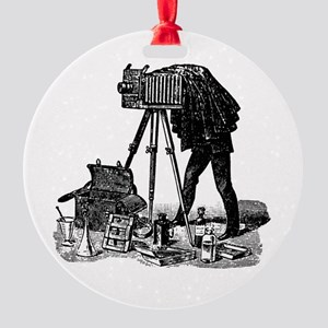 Vintage Photographer Round Ornament