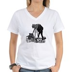 Vintage Photographer Women's V-Neck T-Shirt