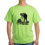 Vintage Photographer Green T-Shirt