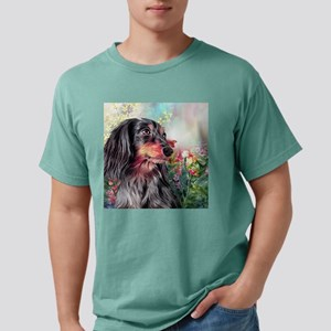 Dachshund Painting Mens Comfort Colors Shirt