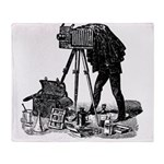 Vintage Photographer Throw Blanket