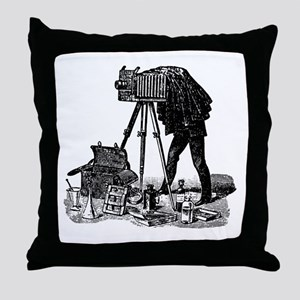 Vintage Photographer Throw Pillow