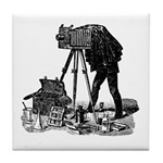 Vintage Photographer Tile Coaster
