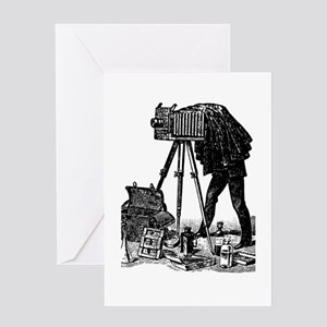Vintage Photographer Greeting Card