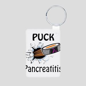 Puck Pancreatitis Aluminum Photo Keychain