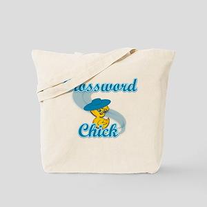 Crossword Chick #3 Tote Bag