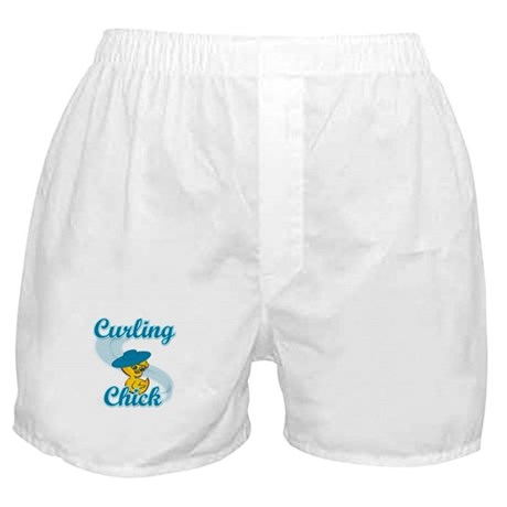 Curling Chick #3 Boxer Shorts