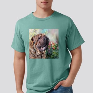 Shar Pei Painting Mens Comfort Colors Shirt