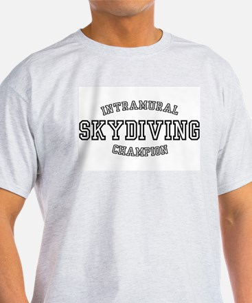 INTRAMURAL SKYDIVING CHAMPION Ash Grey T-Shirt