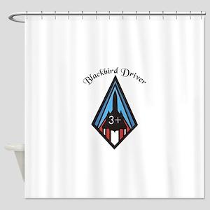 Blackbird Driver Shower Curtain
