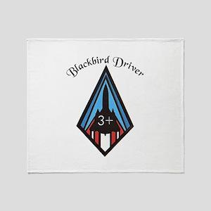 Blackbird Driver Throw Blanket