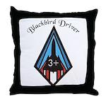Blackbird Driver Throw Pillow