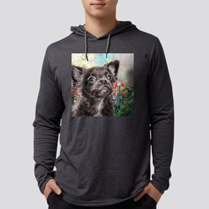 Chihuahua Painting Mens Hooded Shirt