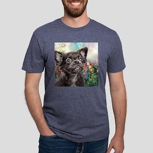 Chihuahua Painting Mens Tri-blend T-Shirt