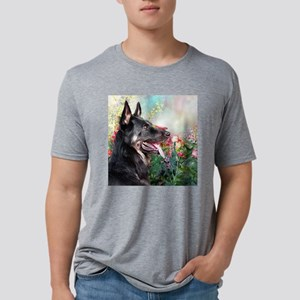German Shepherd Painting Mens Tri-blend T-Shirt