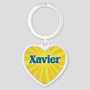 Xavier Sunburst Heart Keychain