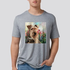 Airedale Painting Mens Tri-blend T-Shirt