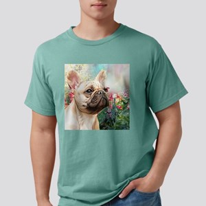 French Bulldog Painting Mens Comfort Colors Shirt