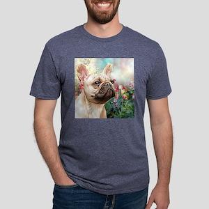 French Bulldog Painting Mens Tri-blend T-Shirt