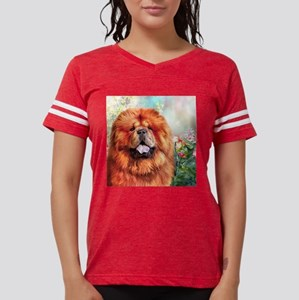 Chow Chow Painting Womens Football Shirt