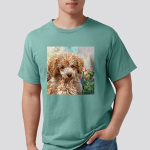 Poodle Painting Mens Comfort Colors Shirt