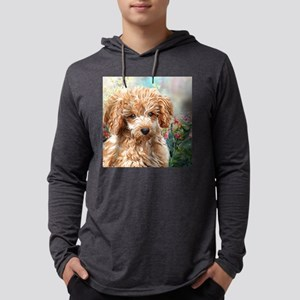 Poodle Painting Mens Hooded Shirt