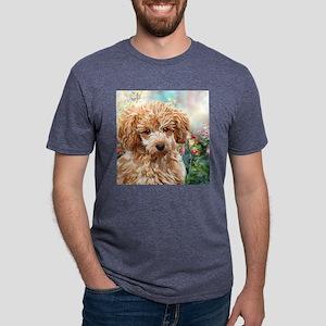 Poodle Painting Mens Tri-blend T-Shirt