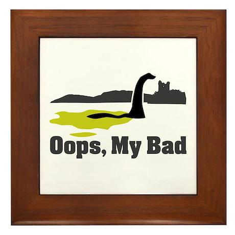 Oops, My Bad Framed Tile
