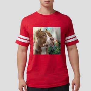Pit Bull Painting Mens Football Shirt