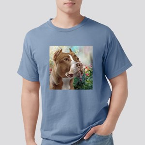 Pit Bull Painting Mens Comfort Colors Shirt