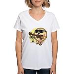Hawaiian Pizza Women's V-Neck T-Shirt