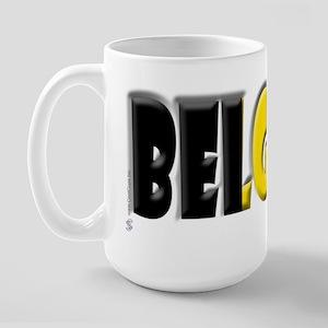 Word Art Flag of Belgique Large Mug