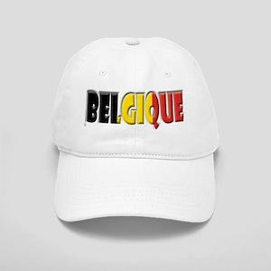 Word Art Flag of Belgique Cap