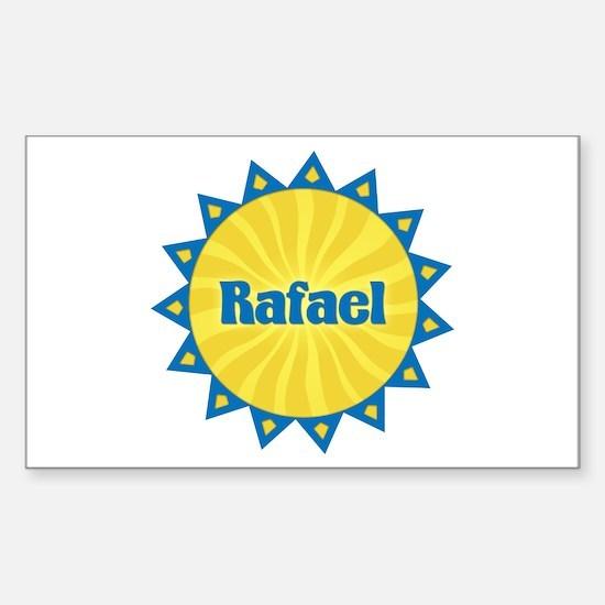 Rafael Sunburst Rectangle Decal