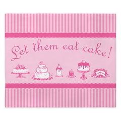 Sweet Pink Let Them Eat Cake King Duvet