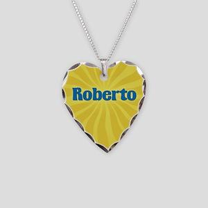 Roberto Sunburst Necklace Heart Charm