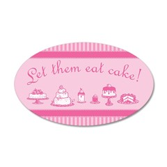 Sweet Pink Let Them Eat Cake Wall Decal
