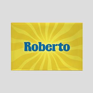 Roberto Sunburst Rectangle Magnet
