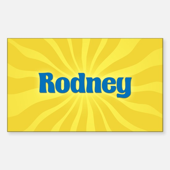 Rodney Sunburst Oval Decal