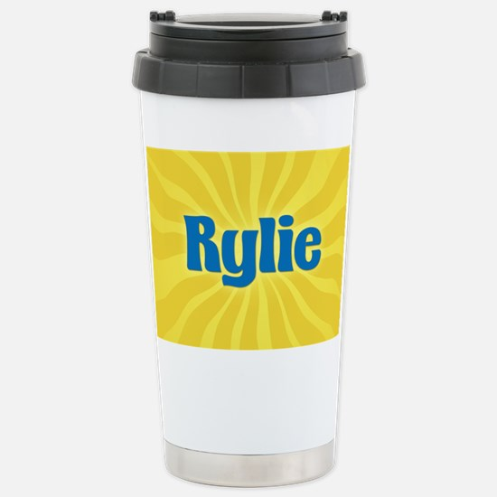 Rylie Sunburst Stainless Steel Travel Mug