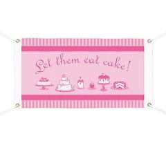 Sweet Pink Let Them Eat Cake Banner