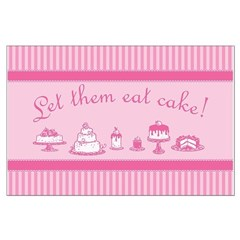 Sweet Pink Let Them Eat Cake Posters