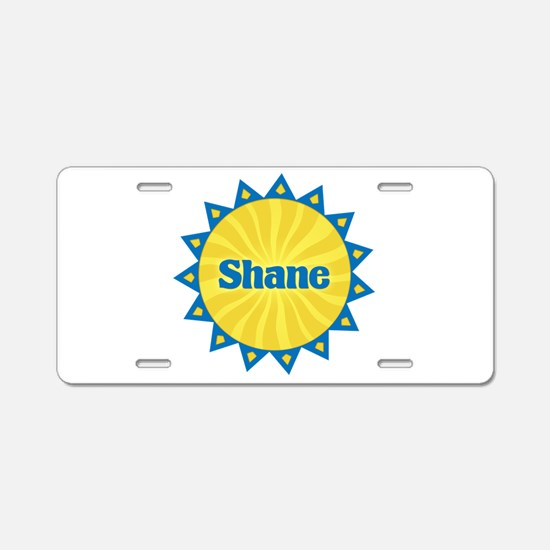 Shane Sunburst Aluminum License Plate
