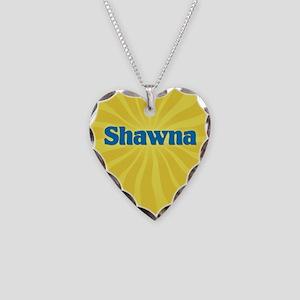Shawna Sunburst Necklace Heart Charm