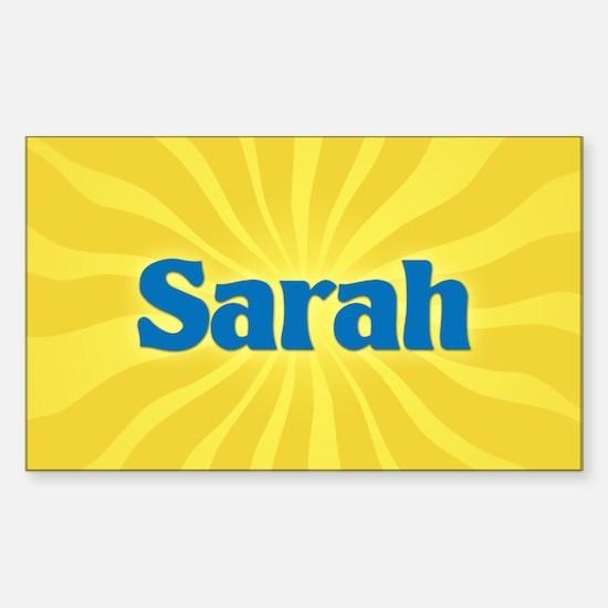 Sarah Sunburst Oval Decal