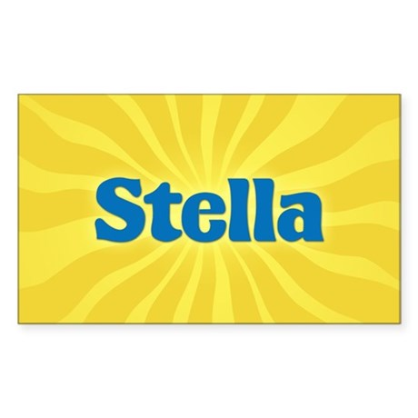 Stella Sunburst Rectangle Sticker