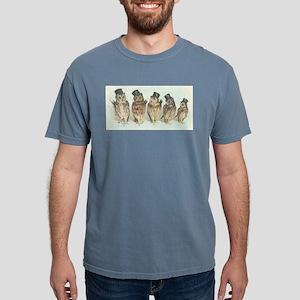 Owls in Top Hats Mens Comfort Colors Shirt