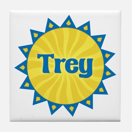 Trey Sunburst Tile Coaster