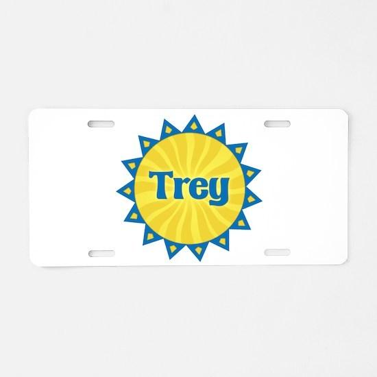 Trey Sunburst Aluminum License Plate