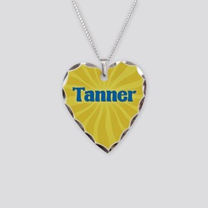 Tanner Sunburst Necklace Heart Charm